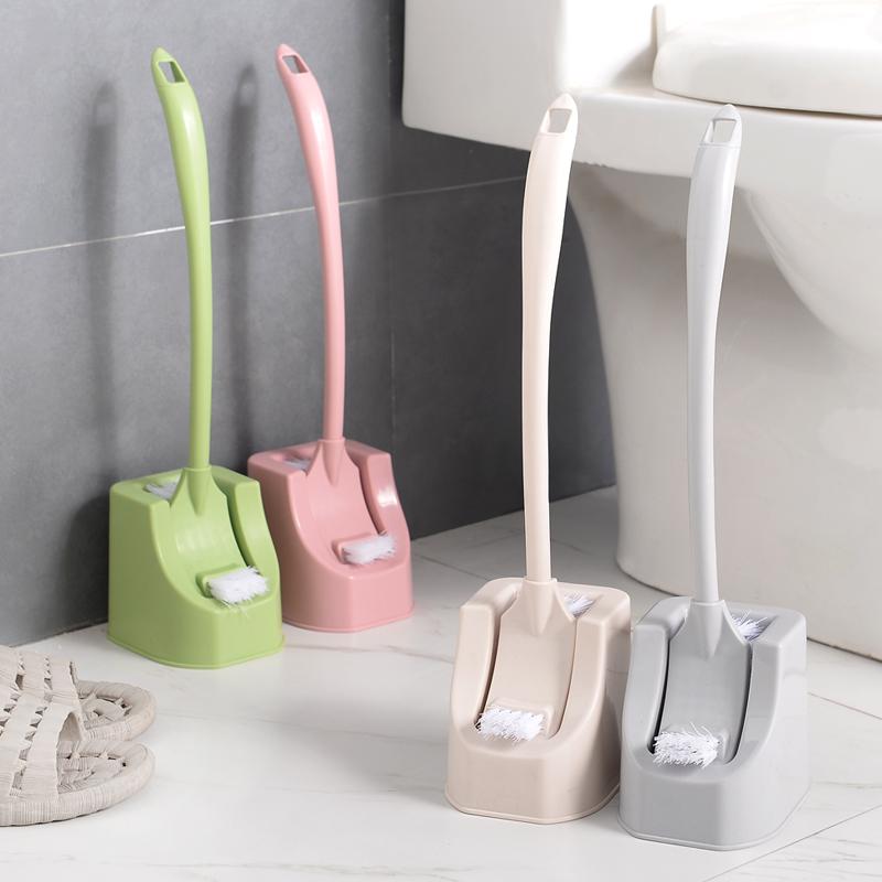 创意素色马桶刷套装卫生间清洁刷厕所无死角刷子长柄软毛洁厕刷子