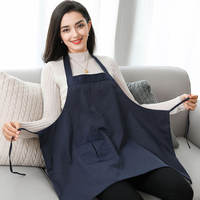 Double-layer radiation suit maternity dress genuine apron kitchen induction cooker cooking apron pregnant women to work computer