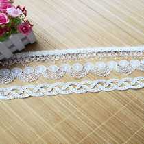 DIY White 8-shaped polyester nail beads lace hand sewing material finished accessories accessories water-soluble embroidery lace fabric