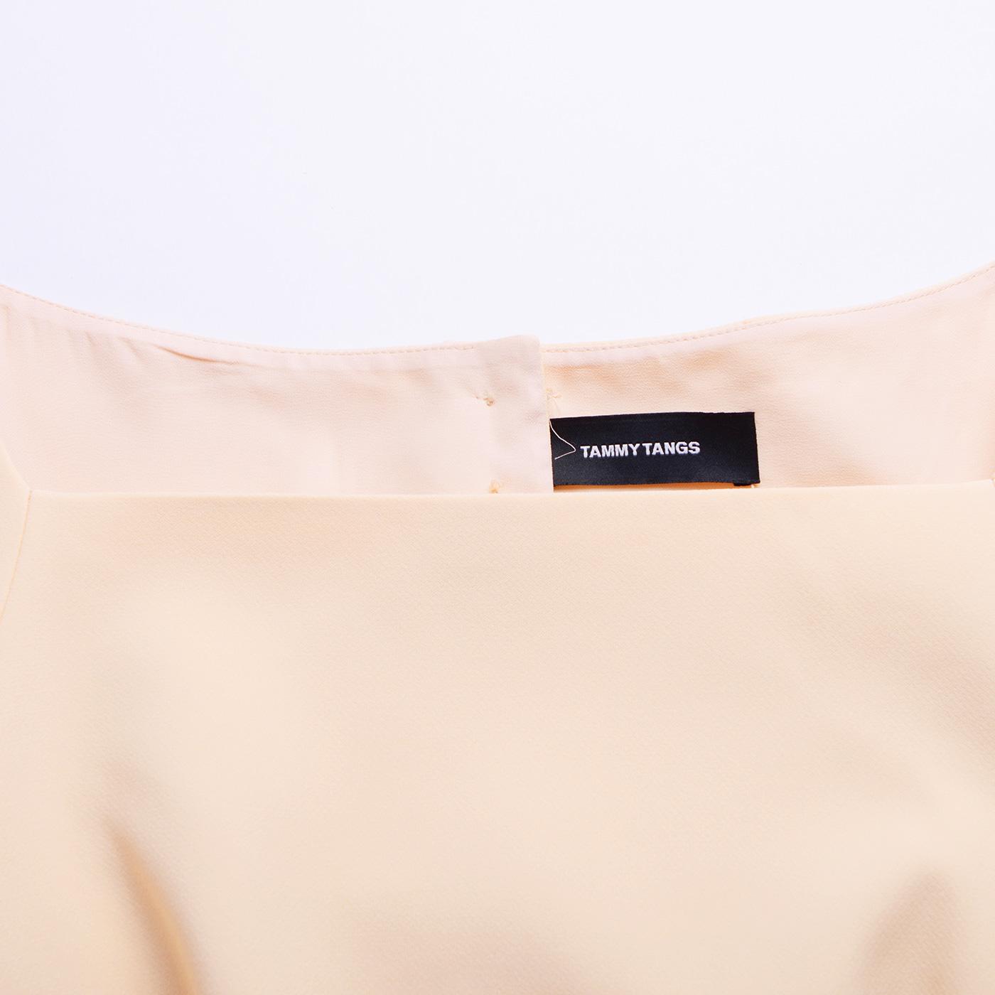 糖力2017春装新款欧美一字领七分袖中长款连衣裙收腰时尚裙子