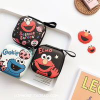 Japan and South Korea creative headset storage bag cute cartoon data line charger storage box mini coin purse anti-fall female