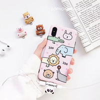 Apple XS/XR/MAX Headphone Adapter Cartoon iphone8/7plus Charging Song Two-in-one Converter