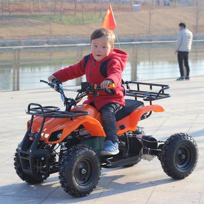 电动小小公牛沙滩车四轮越野摩托车儿童电瓶车广场出租山地车玩具