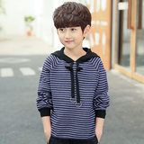 Boy's clothing tide foreign gas spring dress new 2019 Korean version of children's big children hooded top children's spring and autumn boys