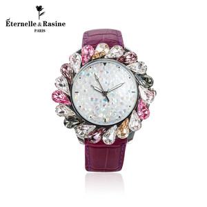 法国Eternelle奥地利仿水晶手表 石英表表欧美风时装腕表杂志同款