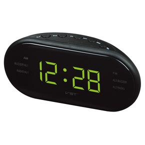 LED钟控收音机闹钟带AM和FM双频道多组闹钟礼品收音机发光钟包邮