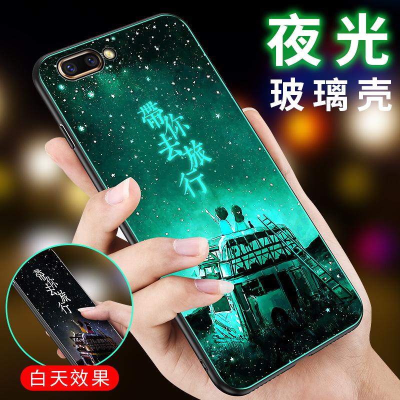 华为honor view 10夜光玻璃手机壳BKL-L09全包边创意保护套男女款