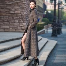 首尚衣品2018新款羊绒中长款修身气质显瘦立领毛呢外套羊毛大衣