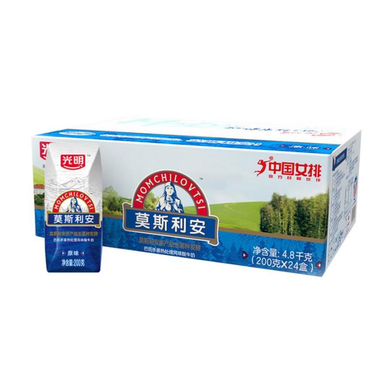 光明莫斯利安巴氏杀菌风味酸奶原味200g*24