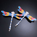 Joint jewelry European antique natural opatopaz 925 Sterling Silver Brooch Enamel orphan carving