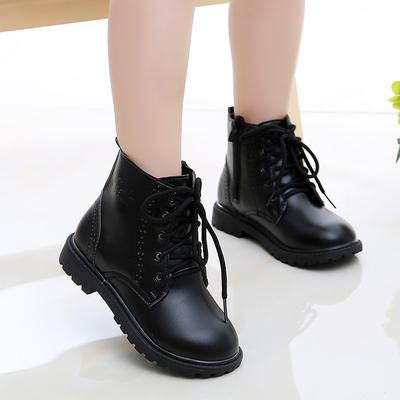 男宝宝靴子儿童鞋韩版新款男女童靴子春秋单靴加绒宝宝马丁靴潮
