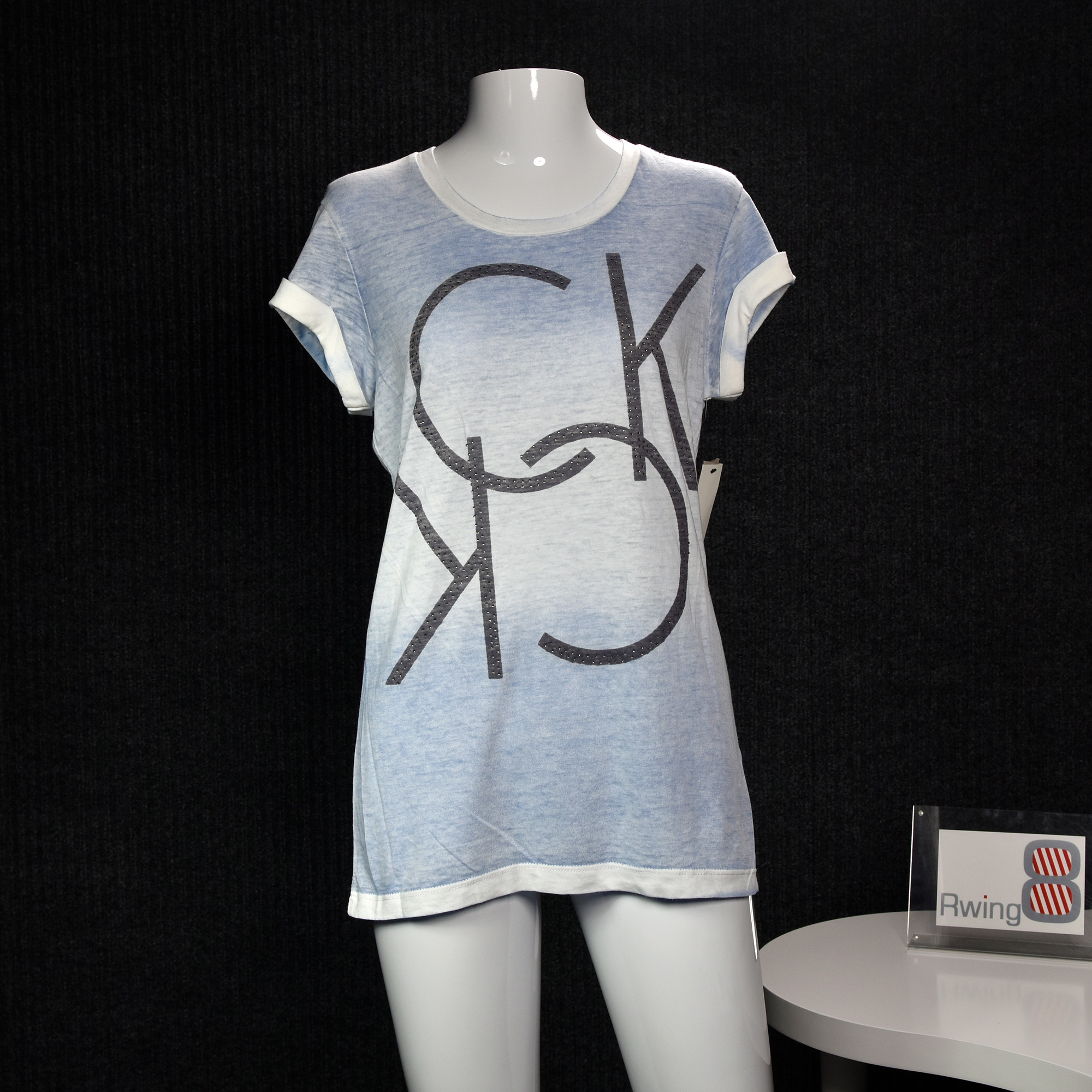 ⭐Calvin Klein Jeans CK 女装 镶钻装饰 渐变色 短袖T恤