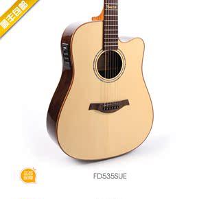 玄武吉他顺丰包邮法摩萨Famosa535系列进阶简约缺角单板民谣吉他