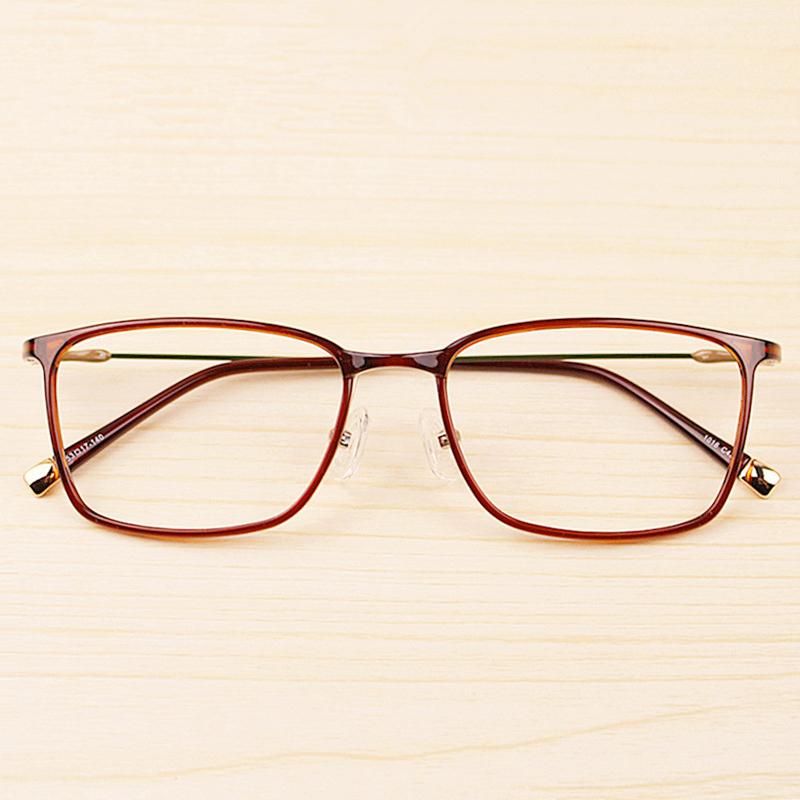 眼镜框男全框钨钛塑钢眼镜