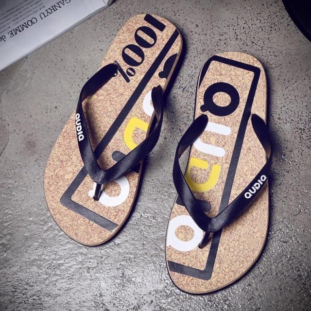 夏季韩版潮流防滑人字拖鞋男透气沙滩鞋休闲凉拖青少年个性一字拖