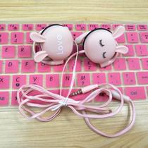重低音电脑女生男通用音乐有线带麦耳塞4d手机耳机入耳式耳麦挂耳