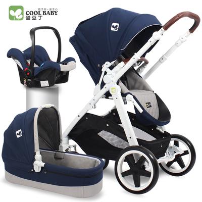 coolbaby高景观婴儿推车 欧式双向避震手推车折叠便携可坐躺童车