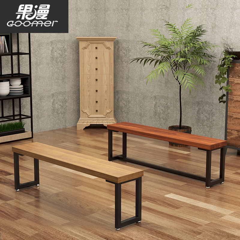 阳台长椅长板凳餐厅长凳子更衣室长条凳实木换鞋凳简约现代长条椅