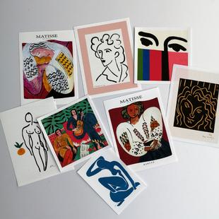 网格照片墙装 ins风拍照道具 饰卡片小海报 Matisse马蒂斯艺术卡片