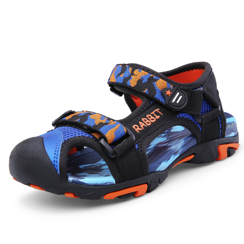 男童凉鞋2019新款夏季儿童包头沙滩鞋中大童软底防滑男孩小学生