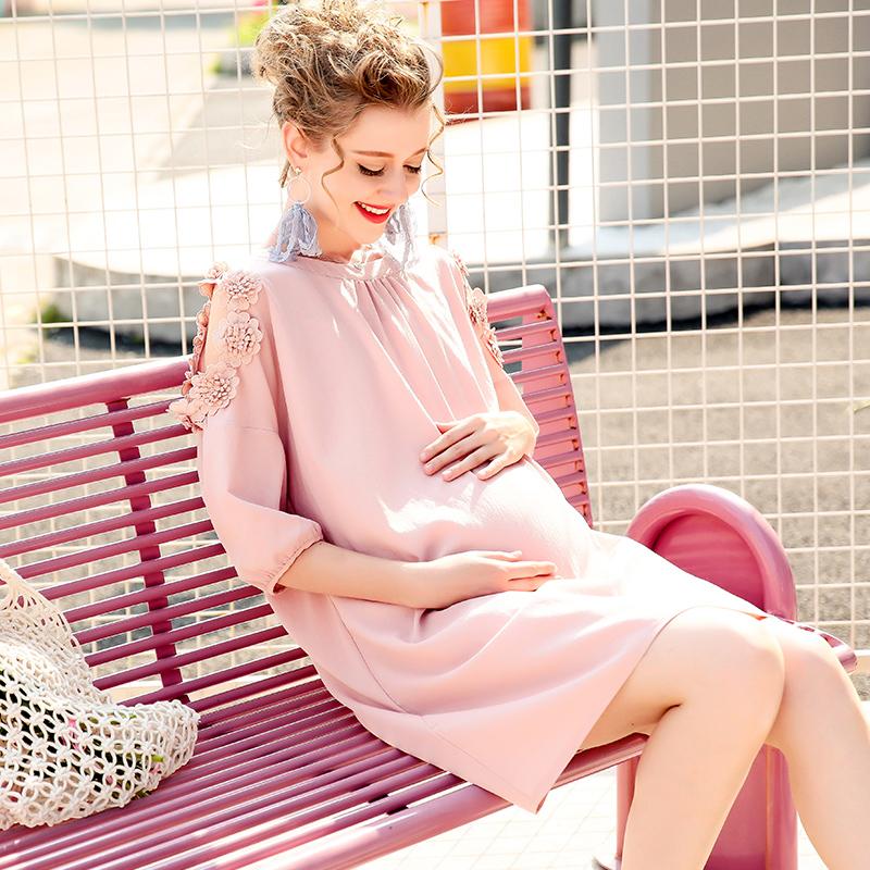 春夏季中长款3-9个月孕妇裙子孕妇装