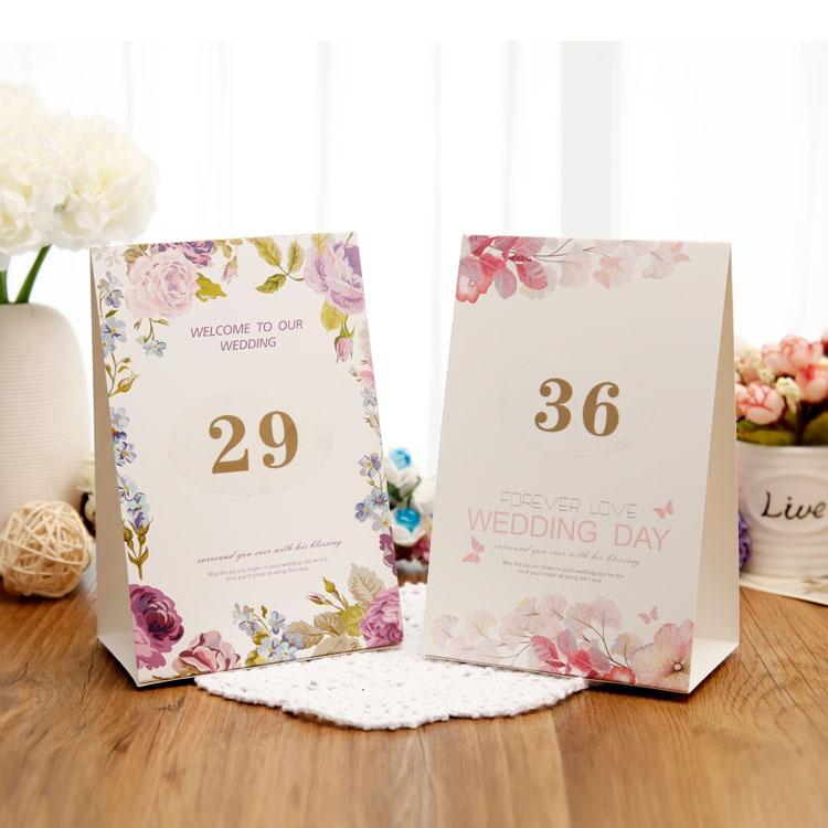婚庆创意桌卡