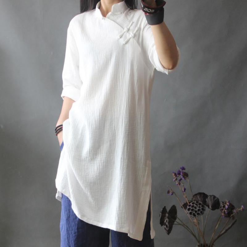 棉麻女装长袍
