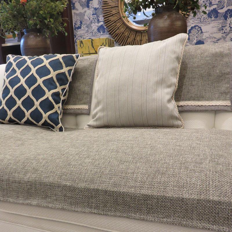 沙发垫灰色加厚