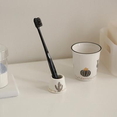 daily like韩国ins风可爱小清新创意陶瓷牙刷架单支牙刷底座
