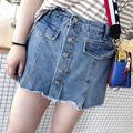 汐悠姿大码软妹女装200斤新款裙裤女夏牛仔半身裙胖mm洋气短裤003