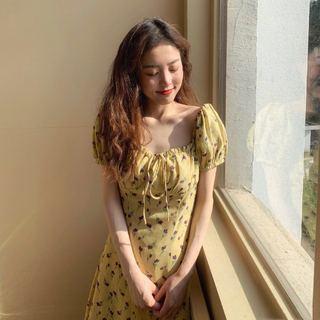 2019新潮流行款夏胖mm大码超仙女装遮肚减龄洋气显瘦雪纺连衣裙子