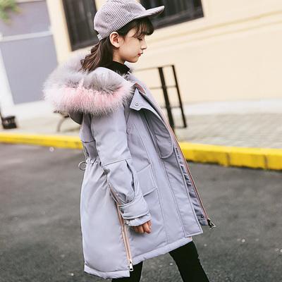 儿童羽绒服女童中长款加厚女大童童装中大童特价反季清仓品牌正品