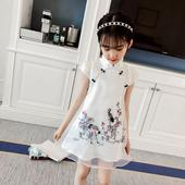 女童旗袍夏季2018新款 中国风小女孩连衣裙儿童中大童公主裙潮 童装