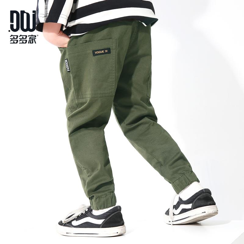 男童口袋长裤