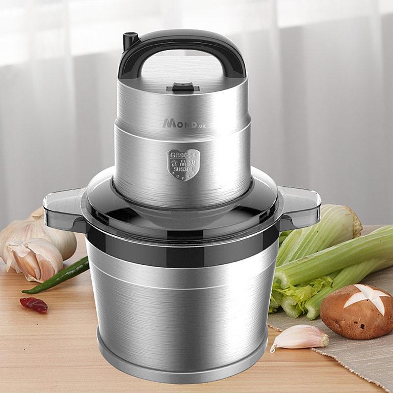 多功能绞肉机电动不锈钢全自动大功率剁辣椒碎蒜泥器商用大容量6L