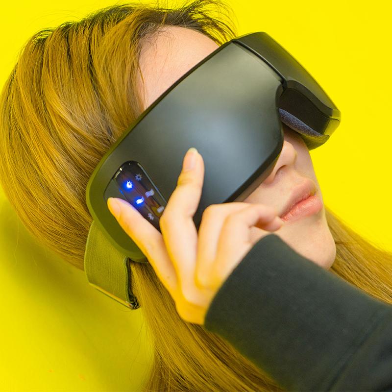 日本gk4d温感魔法智能眼罩眼部按摩仪器蓝牙热敷G&K生日礼物礼品