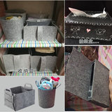 Kindergarten manual 2.3.5 mm thick smoke gray non-woven cloth bag storage box flower gray felt fabric