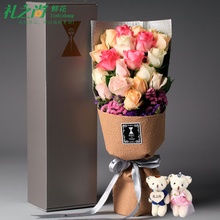 全国送花红玫瑰花生日鲜花速递同城礼盒花束上海北京广州成都T