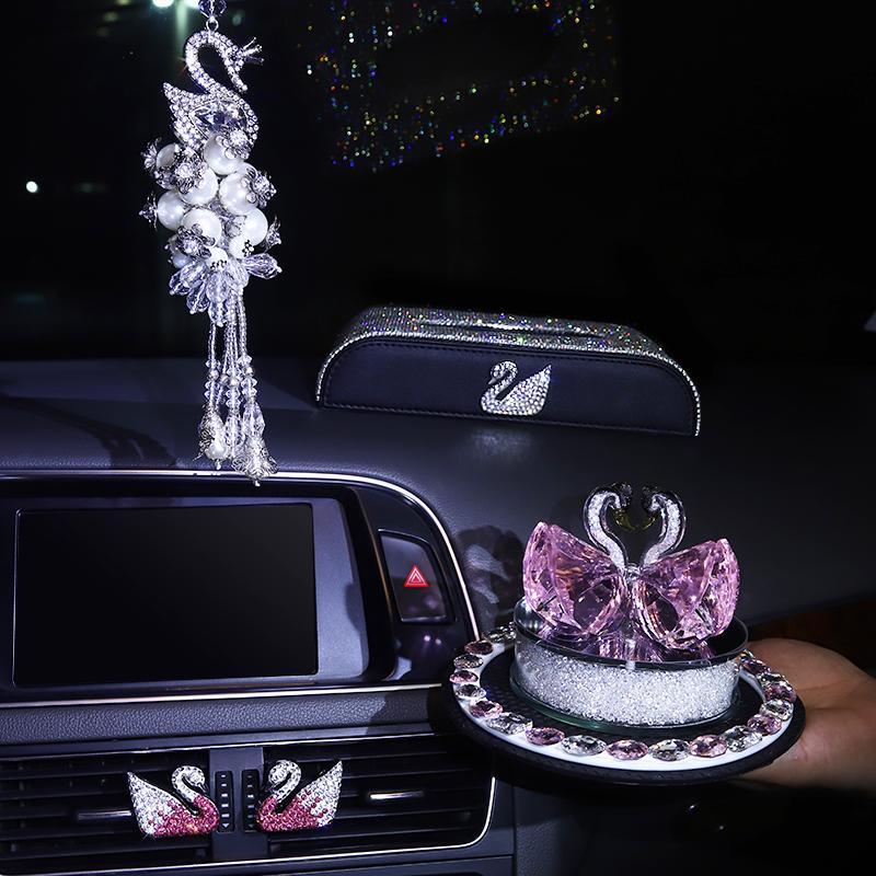 汽车香水摆件女士可爱漂亮内饰创意饰品座式香水淡香清新香气持久