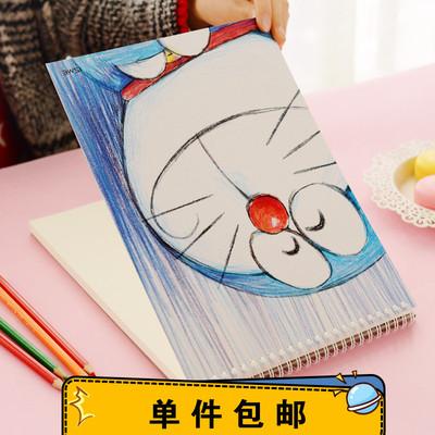 小清新空白涂鸦本 素描本 线圈美术绘图素描纸手绘绘画本A4速写本