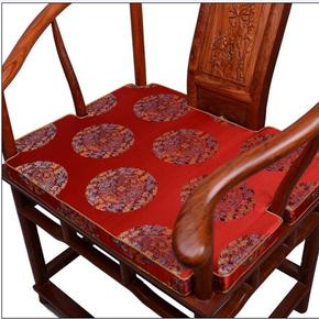 实木圈椅官帽餐椅子家具坐垫中式沙发坐垫仿古典榆木坐垫椅垫定做