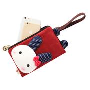 2018新款手机包女手拿包韩版可爱零钱包小包包双层拉链布艺手机袋