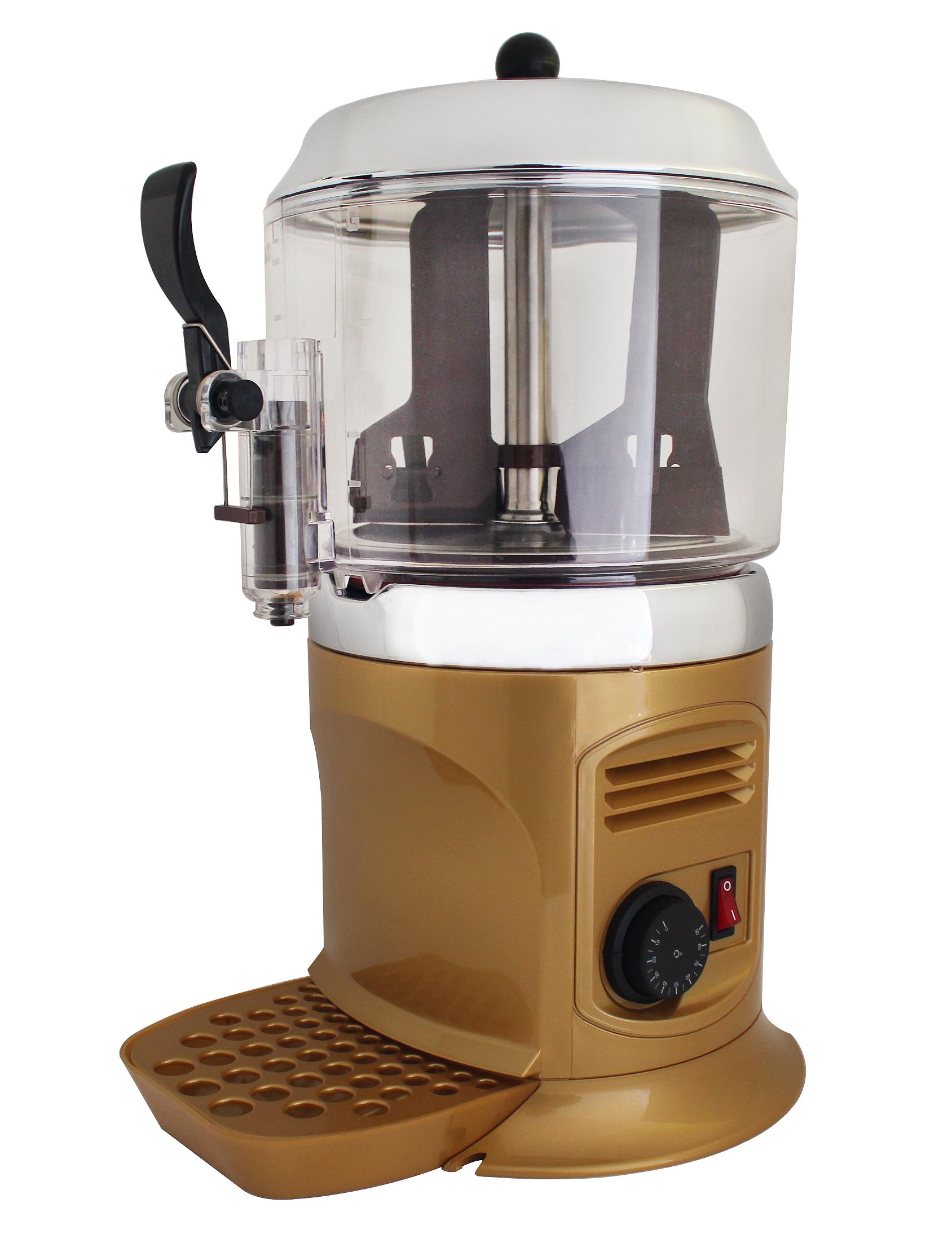 厂家直供5升热巧克力机器热咖啡饮料机酒店自助餐设备金色5L包邮