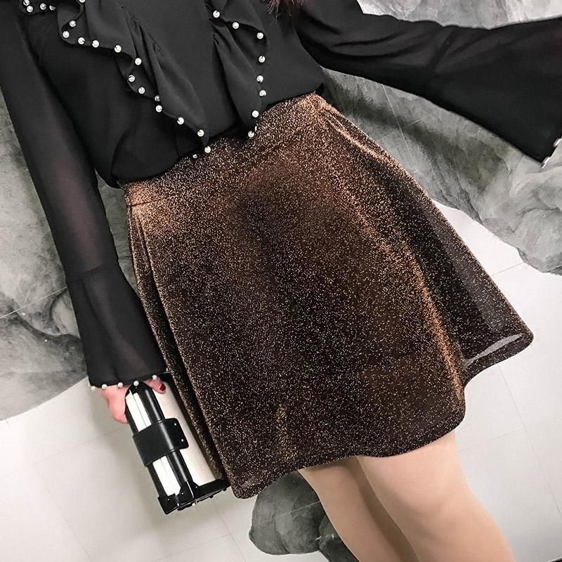 大码女装欧美风裤裙胖mm2018新款春装时尚修身显瘦焦糖色半身裙潮