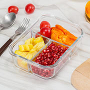Special offer heat-resistant glass lunch box lunch box glass bowl microwave special lunch box sealed crisper