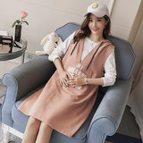 Genuine radiation-proof pregnant women's clothes wear two sets of radiation dresses with suspenders and belly pockets for work in spring and Autumn