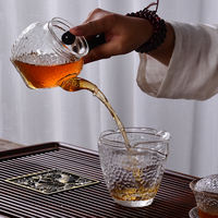 Heat-resistant Japanese hammer glass Kung Fu tea set home tea teapot side tea cup black tea tea