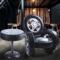 美式复古铁艺沙发边几轮胎椅子酒吧椅咖啡厅圆桌餐厅阳台休闲椅