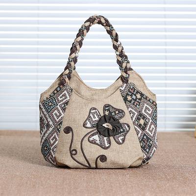 小手提包女包中国风迷你手提包包民族风手提包文艺帆布女小手提包