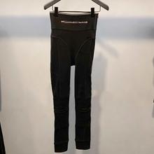 19春夏新款AW大王家字母织带LOGO紧身长裤 个性高腰长腿打底裤女